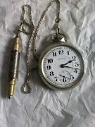 Rare Railroad Pocket Watch Chicago Illinois Conductor Fob Chicago Union Station