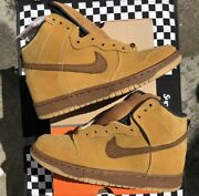 """Ds 2002 Nike Sb Dunk High """"wheat"""" Limited Sz. 6 Shark Forbes Diamond Unkle"""