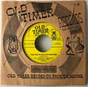 Cal Golden Too Old To Cut The Mustard Old Timer Records 8066 45 Rpm Call Sheet