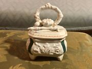 Victorian Fairing Trinket Box Conta And Boehme Crown And Sword On Dresser