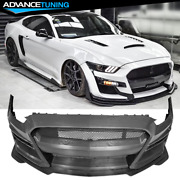 Fits 15-17 Ford Mustang Gt500 Style Front Bumper Cover Conversion - Pp