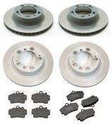 For Porsche Boxster 1997-2004 Front+rear Vented Rotors And Pads Brake Kit Textar