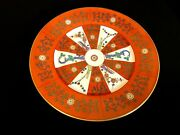 Herend Porcelain Handpainted Red Dynasty Siang Rouge Dinner Plate 2525/g