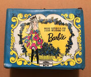 The World Of Barbie Vinyl Lunch Box W/thermos Mattel Vintage 1971