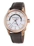 Frederique Constant Yacht Timer Gmt Automatic Silver Dial Menand039s Watch Fc-350vt4h