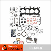 Fit 06-09 Honda Civic Dx Ex Lx Sohc Full Gaskets Bearings And Rings Kit R18a1