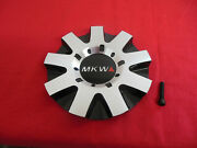 Mkw Custom Wheel Center Cap Metal Alloy Finish 8014-a New With Bolt