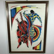 Mid Century Limited Edition Lithograph Of Bullfighter R. Albert 97/99