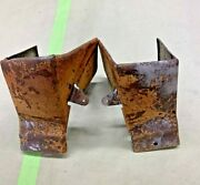 1951 Chevy Lower Rear Garnish Track Moulding Covers 4 Front Bench Seat Tin Woody