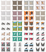 Ambesonne Dog Lover Cushion Cover Set Of 4 For Couch And Bed In 4 Sizes