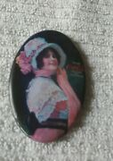 Vintage Coca Cola Celluloid Pocket Mirror Repro From The 1970s Beautiful Colors