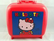 Hello Kitty Lunch Box With Thermos Vintage Sanrio Made 1990 Rare