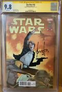 Han Solo Cgc 9.8 Signed Harrison Ford Star Wars 42 Marvel Comic Sig Series