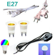 Lamp Light Cable Control Switch E27 Bulb Dimmable Lighting Switch Wire 1.8m