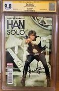 Han Solo 2 Cgc 9.8 Signed By Harrison Ford Star Wars Signature Series Comic
