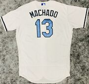 Baltimore Orioles Manny Machado Signed Game Used Fatherandrsquos Day Jersey Mlb + Bas