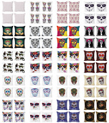 Ambesonne Sugar Skull Cushion Cover Set Of 4 For Couch And Bed In 4 Sizes