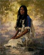 Howard Terpning And039woman Of The Sioux Rare Limited Edition Print Final Sale