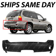 New Primered - Rear Bumper Cover Replacement For 2002-2009 Gmc Envoy Suv 02-09