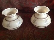 Set Of 2 Small Gone A With The Wind Style Glass Lamp Shades Beautiful