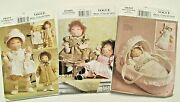 Vogue_15 Cloth Doll Pattern Lot, Doll Clothes, Carrier And Accessories_oop_uncut