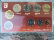 1984 Israel Official Uncirculated Set / 9 Coin Set
