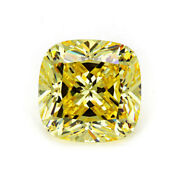 1.00 Ct To 5.00 Ct Canary Yellow Cushion Diamond Cut Loose Moissanite For Ring