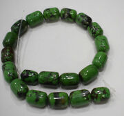 Beads Chinese Green Turquoise Barrel Beads 20mm - 22mm
