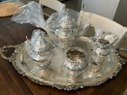 4 Pc Near Museum Quality Wallace Grande Baroque Sterling Silver Coffee Set