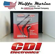 Spark Plug Wire Set For Mercruiser 350 Mag With Delco Flat Cap Distributor