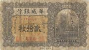 China / Sino Scan. Bank 20 Copper Coins 1926 S 583c Circulated Banknote