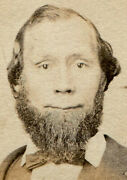 Civil War Era Cdv Tax Stamp. Photo On Card With Illustrated Ornate Oval Frame.