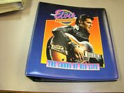 Vintage The Elvis Collection Trading Card Binder With Cards.