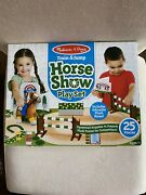 Melissa And Doug Train And Jump Horse Show Play Set