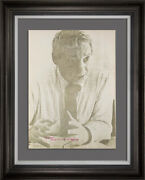 Louis I. Kahn Lt. Ed. Portrait Lithograph Hand Sign W/archival Frame Included