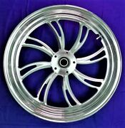 Twisted Vortex Front Wheel 18 Harley 08-13 W/abs Electra Glide Road King Street