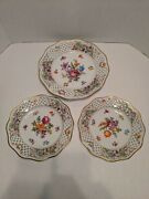 Vintage Shumann Chateau Dresden Bavaria Germany Plates Trimmed With Gold