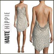 Nwt Haute Hippie 625 Beaded Criminal Love Vneck Gown Mini Dress Womenand039s Size 4