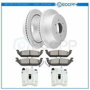 Rear Brake Rotors Calipers And Ceramic Pads For Ford F-150 Lincoln Mark Lt