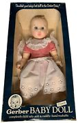 1979 Vintage Gerber Baby Doll 17 Red White Gingham 50th Anniversary Moving Eyes