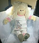 Rare Babyland The Little People Cabbage Patch W/autographed Shoe Xavier Roberts