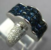 5.02ct Diamond Andaaa Sapphire 18kt White Gold 3d Princess And Round Cloud Fun Ring