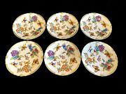 Herend Porcelain Handpainted Old Queen Victoria Dinner Plates 6pcs. 1526