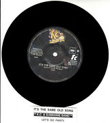 K.c. And The Sunshine Band It's The Same Old Song 45 Record New + Juke Box Strip