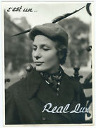 Photo Adv Printing 18 X 24 To The 1940 Hats Of Women Real Lux Belgium