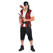 New Themed Pirates Adults Ahoy Matey Pirate Costume - Size Standard