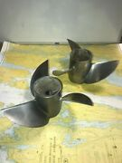 Mercury 48-74599a4and48-74600 Matched Set 14.75 X 21p Stainless Steel Propellers