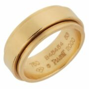 Piaget Possession Yellow Gold Spinning Ring Sz 6 1/2