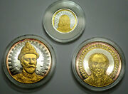 Holy Saints Of Russia Gold Silver 3 Coin Set Limited Edition 999 Coa And Box Rare