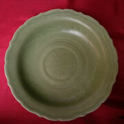 Real Old And Antique Chinese 16thc Ming Longquan Celadon Incised Phoenix Dish